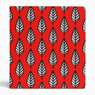 Beech leaf pattern - Red, black and grey / gray Binders