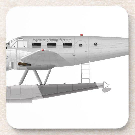 Beech Model 18 on Floats Beverage Coaster