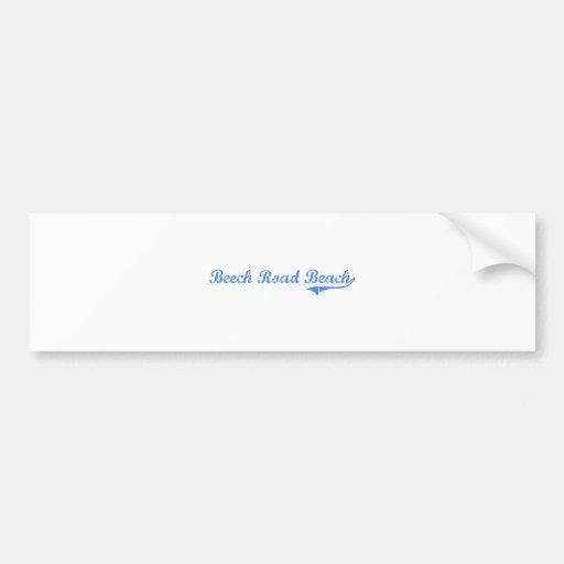 Beech Road Beach New York Classic Design Car Bumper Sticker