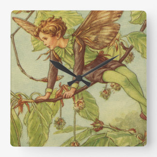 Beech Tree Fairy by Vision Studio Square Wall Clock