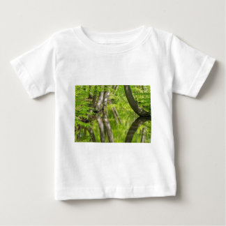 Beech tree trunks with water in spring forest baby T-Shirt