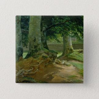 Beech Trees in Frederiksdal near Copenhagen Pinback Button