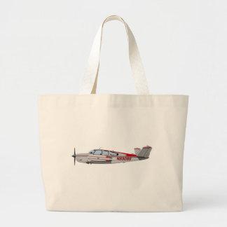 Beech V-35 Bonanza 453453 Large Tote Bag