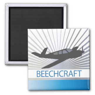 Beechcraft Aircraft 2 Inch Square Magnet