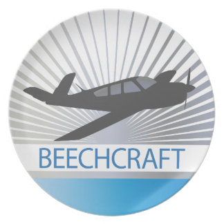 Beechcraft Aircraft Party Plate