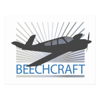Beechcraft Aircraft Postcard