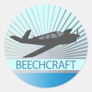 Beechcraft Aircraft Classic Round Sticker