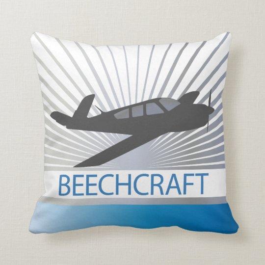 Beechcraft Aircraft Throw Pillow