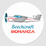 Beechcraft Bonanza Classic Round Sticker