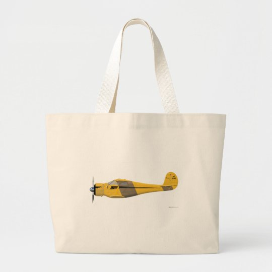 Beechcraft D-17 Staggerwing Large Tote Bag