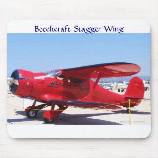 Beechcraft escalona el ala alfombrillas de ratones