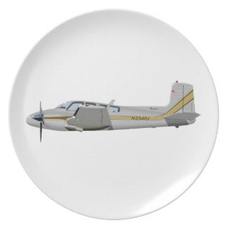 Beechcraft J50 Twin Bonanza 452452 Dinner Plates