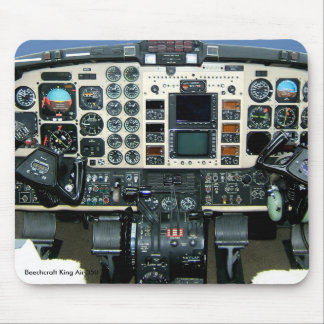Beechcraft King Air 350 Instrument panel Mouse Pad Mousepads