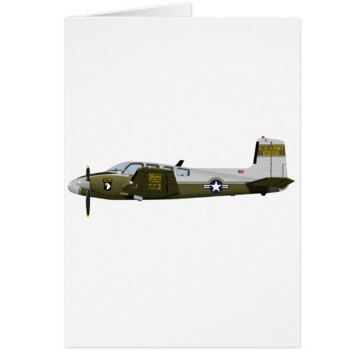 Beechcraft L-23 U-8 Seminole 456456 Greeting Card