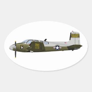 Beechcraft L-23 U-8 Seminole 456456 Oval Sticker