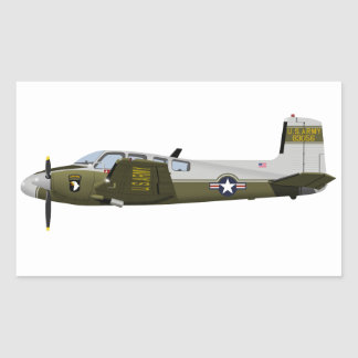 Beechcraft L-23 U-8 Seminole 456456 Rectangular Sticker