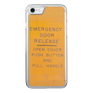 Beechcraft Model 18 Emergency Door Release Design Carved iPhone 8/7 Case