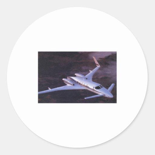 Beechcraft Starcraft Pegatina Redonda