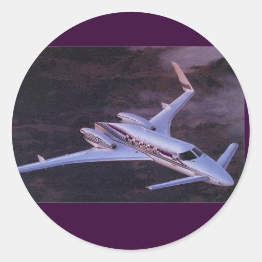 Beechcraft Starship Pegatina Redonda