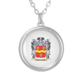 Beeching Coat of Arms - Family Crest Round Pendant Necklace