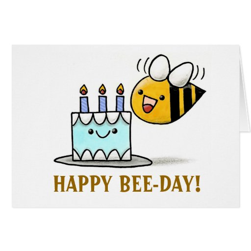 Beeday Happy Bee Day Cards Zazzle