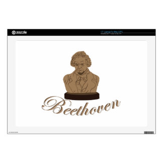 "Beeethoven Decal For 17"" Laptop"