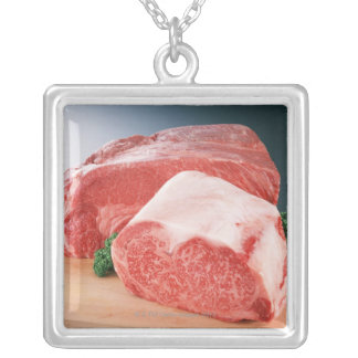 Beef 3 silver plated necklace