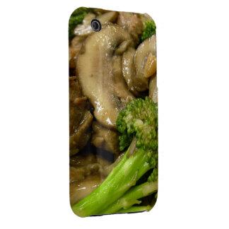 Beef, broccoli & mushroom stir fry iPhone 3 case
