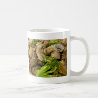 Beef, broccoli & mushroom stir fry coffee mug