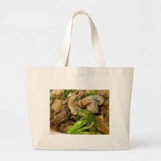 Beef, broccoli & mushroom stir fry jumbo tote bag