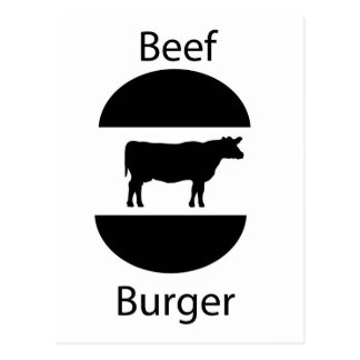 Beef burger post cards