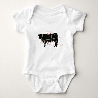 Beef Butcher Chart - Tasty Delicious Yummy Beef! Baby Bodysuit
