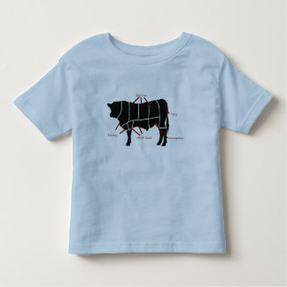 Beef Butcher Chart - Tasty Delicious Yummy Beef! Toddler T-shirt