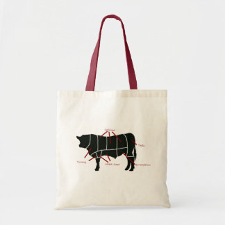 Beef Butcher Chart - Tasty Delicious Yummy Beef! Tote Bag