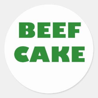 Beef Cake Classic Round Sticker