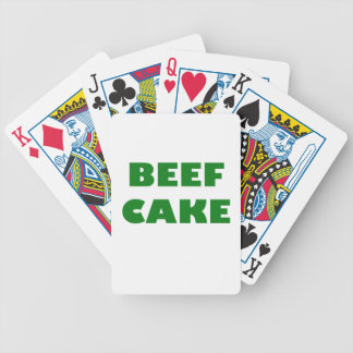 Beef Cake Bicycle Poker Deck