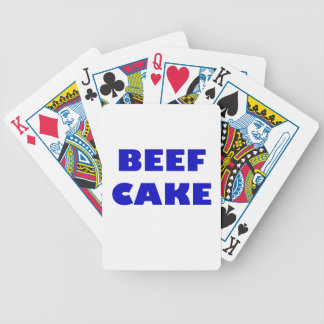 Beef Cake Bicycle Playing Cards