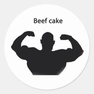 Beef cake round stickers