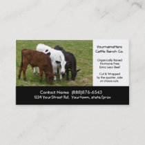Beef Cattle Farming  or Butchering Business Card