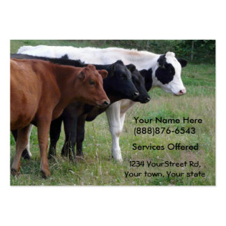 Beef Cattle Vet or Insemination Services Card Large Business Card