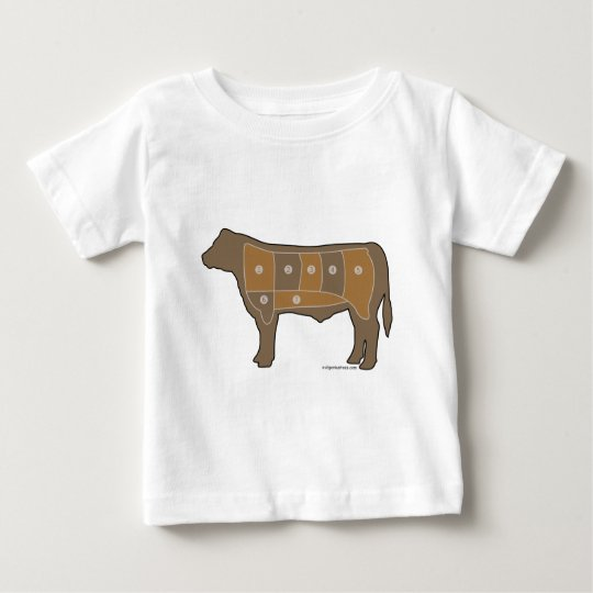 Beef chart meat baby T-Shirt