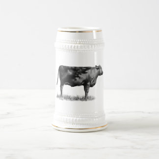 Beef Cow/Heifer in Pencil: Realism: Drawing Beer Stein