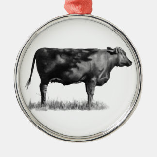 Beef Cow/Heifer in Pencil: Realism: Drawing Metal Ornament