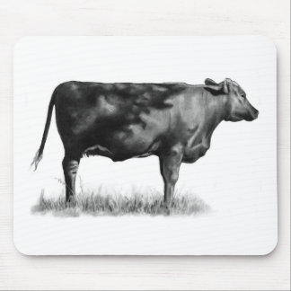 Beef Cow/Heifer in Pencil: Realism: Drawing Mouse Pad