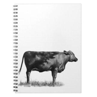 Beef Cow/Heifer in Pencil: Realism: Drawing Notebook