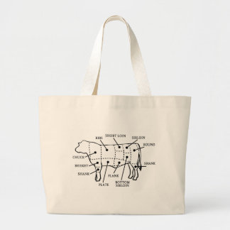 BEEF COW TOTE BAGS