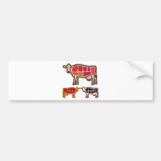 Beef Cuts Bumper Sticker