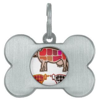 Beef Cuts Pet Name Tag