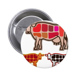 Beef Cuts Pinback Button