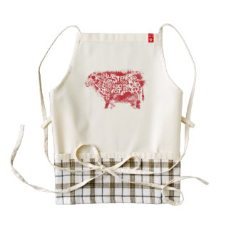 Beef Eater's Chart_Grunge style Zazzle HEART Apron